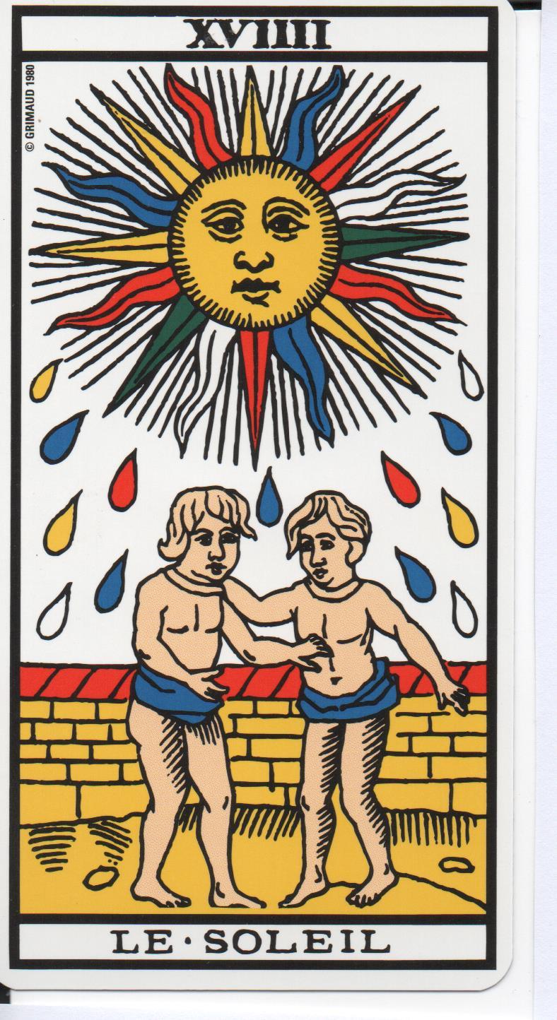 Le Soleil, LAME DU TAROT