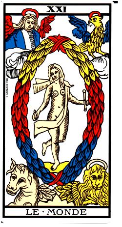 Le Monde Tarot Indiana Aubenque